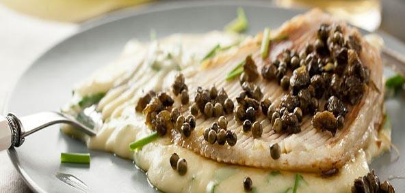 recette de raie au beurre noir de la chef Claudia Crisan