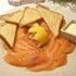 saumon fume maison au restaurant chez claudia valence en Brie Seine-et-Marne